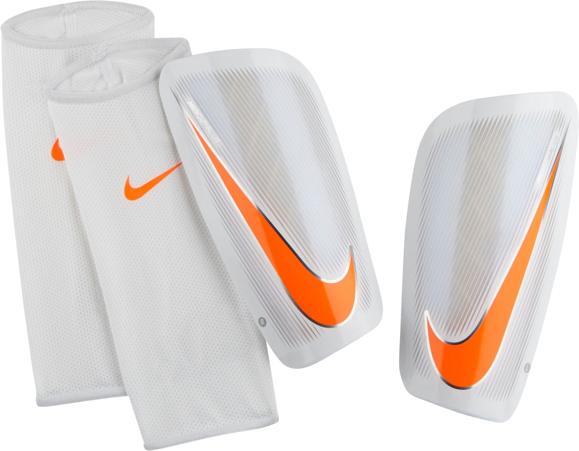 new products 1a219 f3db2 Nike Adult Mercurial Lite Soccer Shin Guards, White
