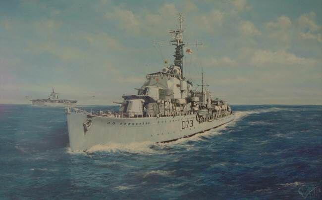 Hms Cavalier D74 Builder J Samuel White Co Cowes Laid Down 28 March 1943 Launched 7 April 1944 Commissioned 22 Nov Cowes Royal Navy Naval History