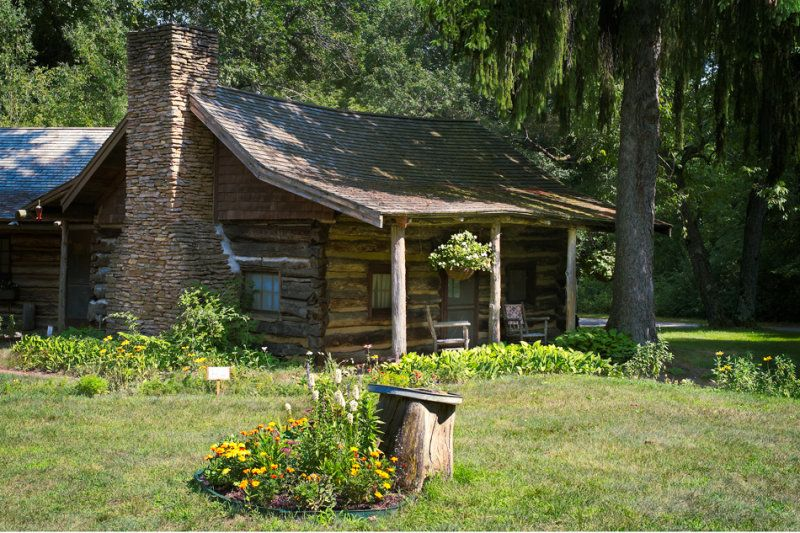 This Is A Preserved 1840 39 S Log Cabin Located In Green Lake