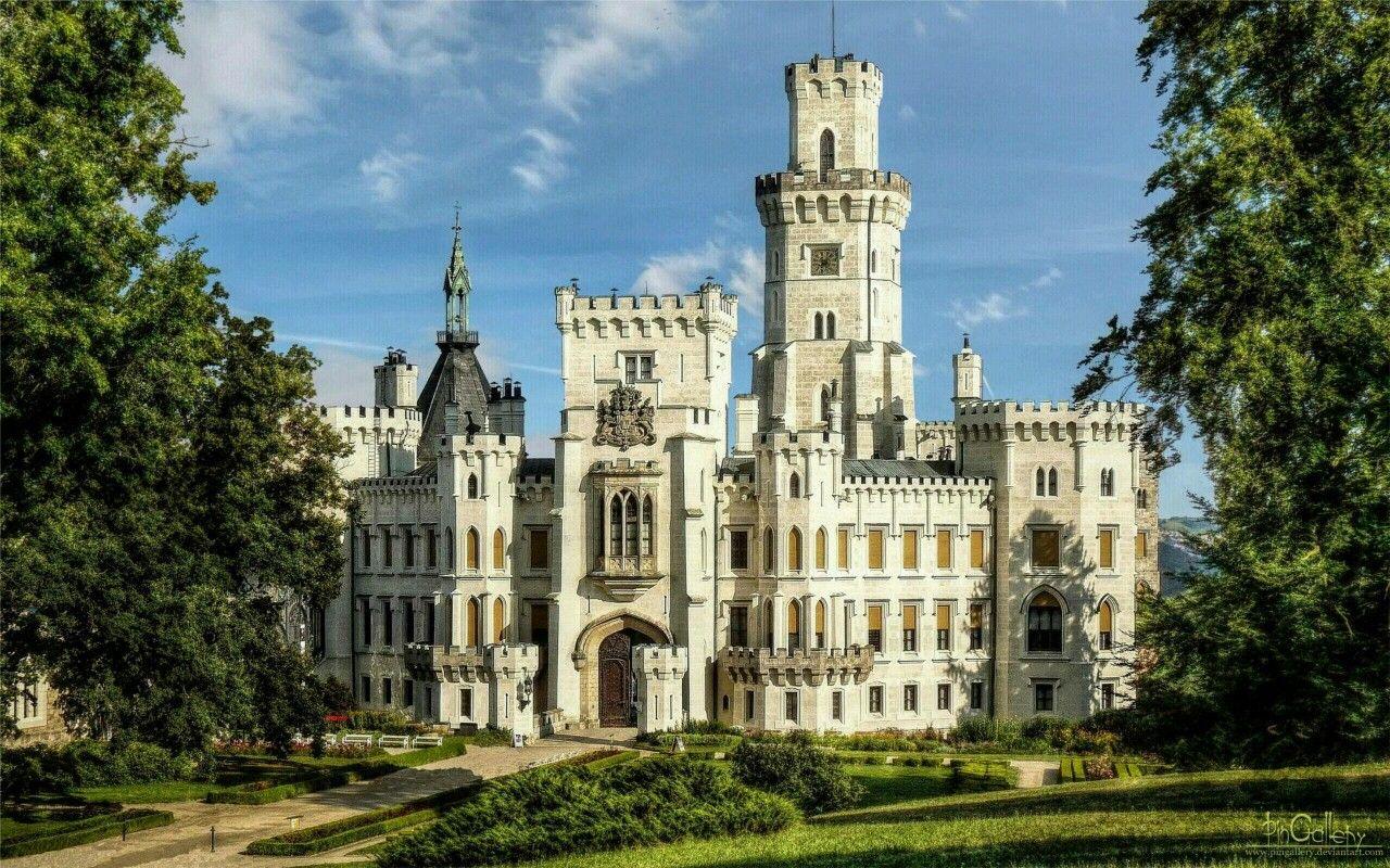 Castillo de Hluboká nad Vltavou.