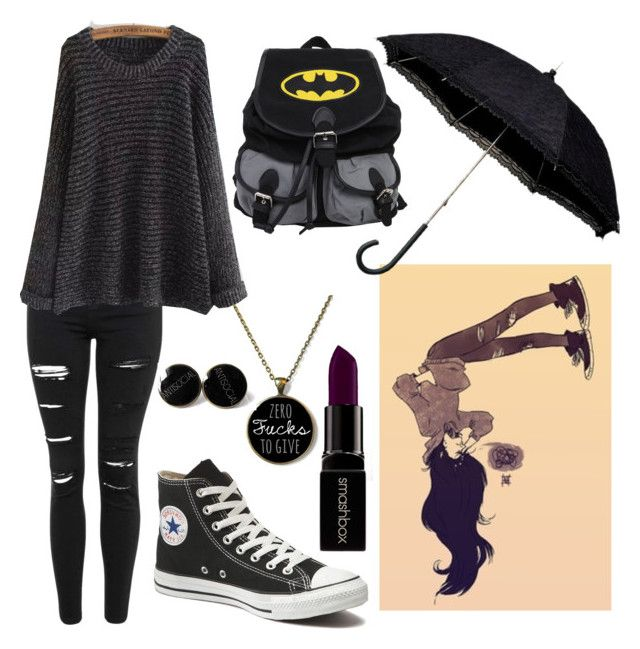 """Marceline the Vampire Queen"" by a-horror-story ❤ liked on Polyvore featuring Topshop, Converse and Smashbox"