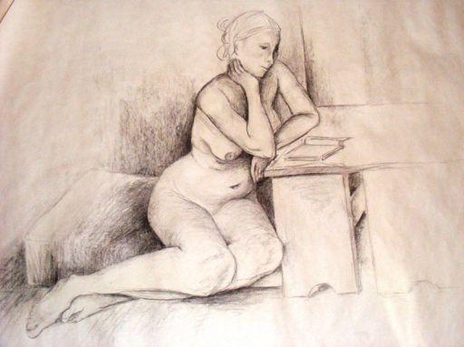 Kristýna Pavluvčíková - Sedící akt 2