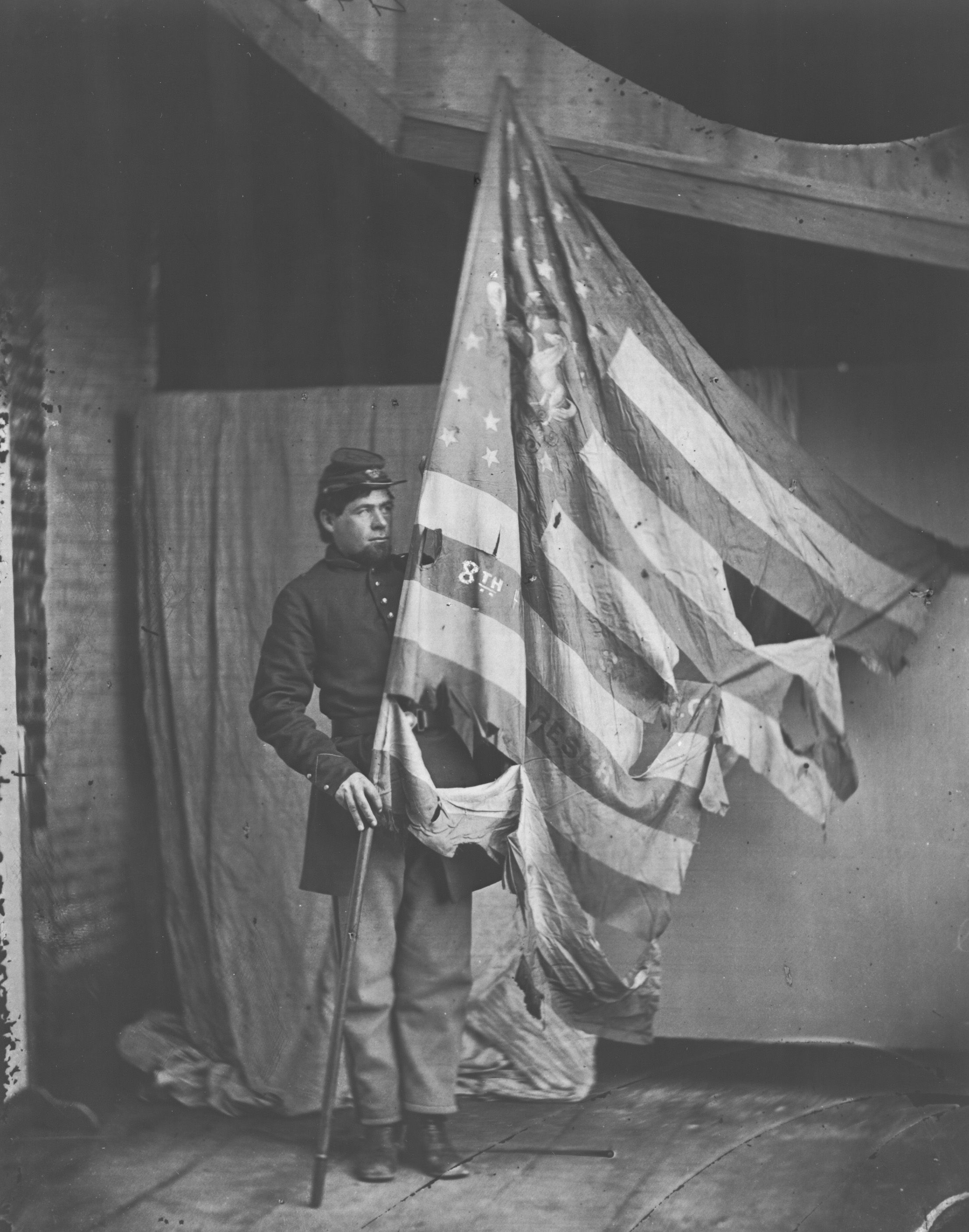 Flag Of The Eighth Pennsylvania Infantry Courtesy Of