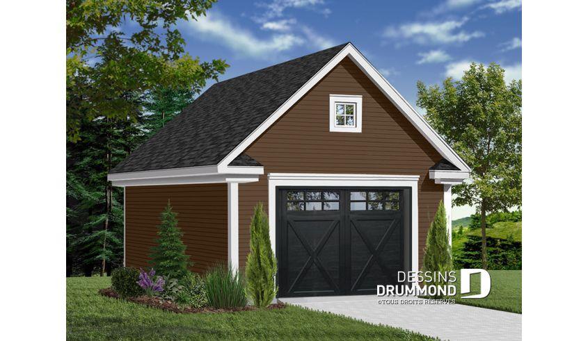 Decouvrez Le Plan 2977 16 Monceau 3 Qui Vous Plaira Son Style Americain Garage Door Design Building A Garage Car Garage