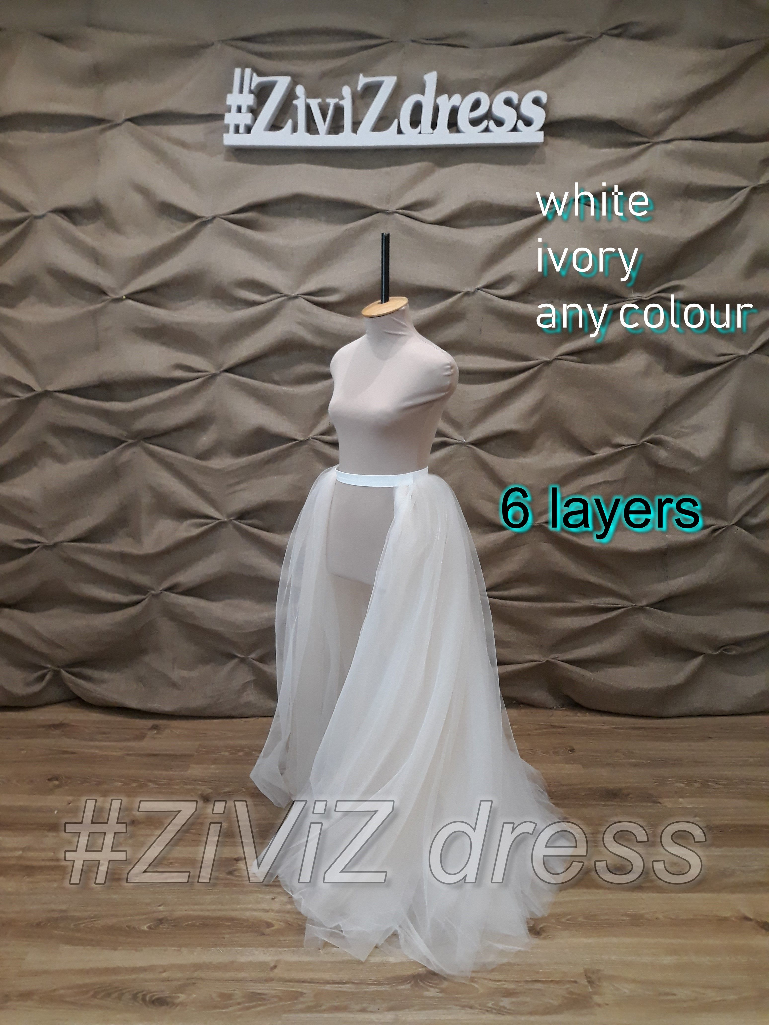 detachable wedding skirt train
