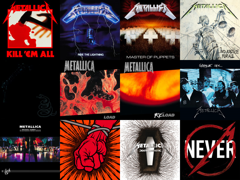 All Album Cover Metallica | Metallica T-Shirt Logo ...