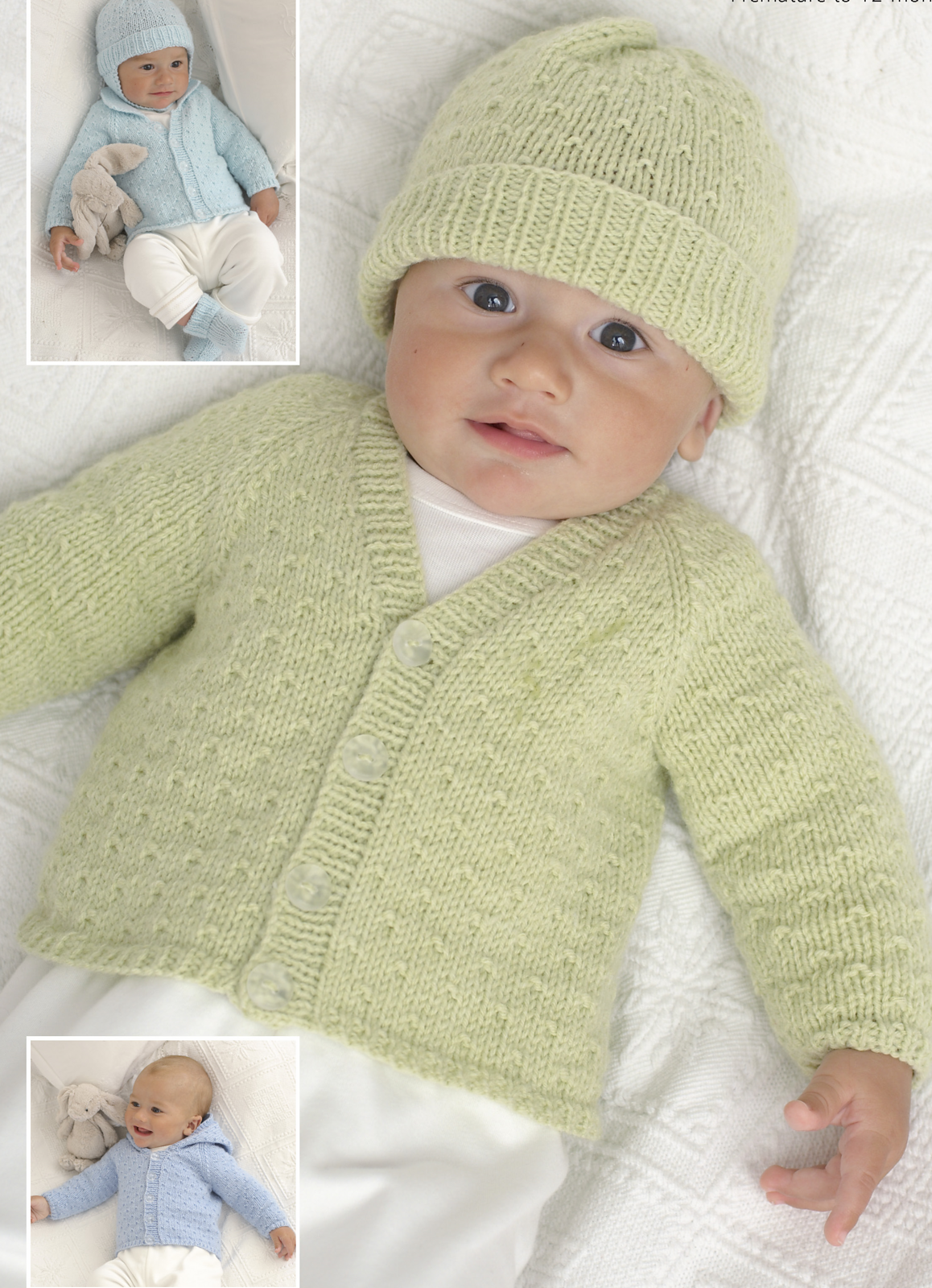 Cardigans, Hats, Mittens and Bootees 1815 | Baby cardigan ...