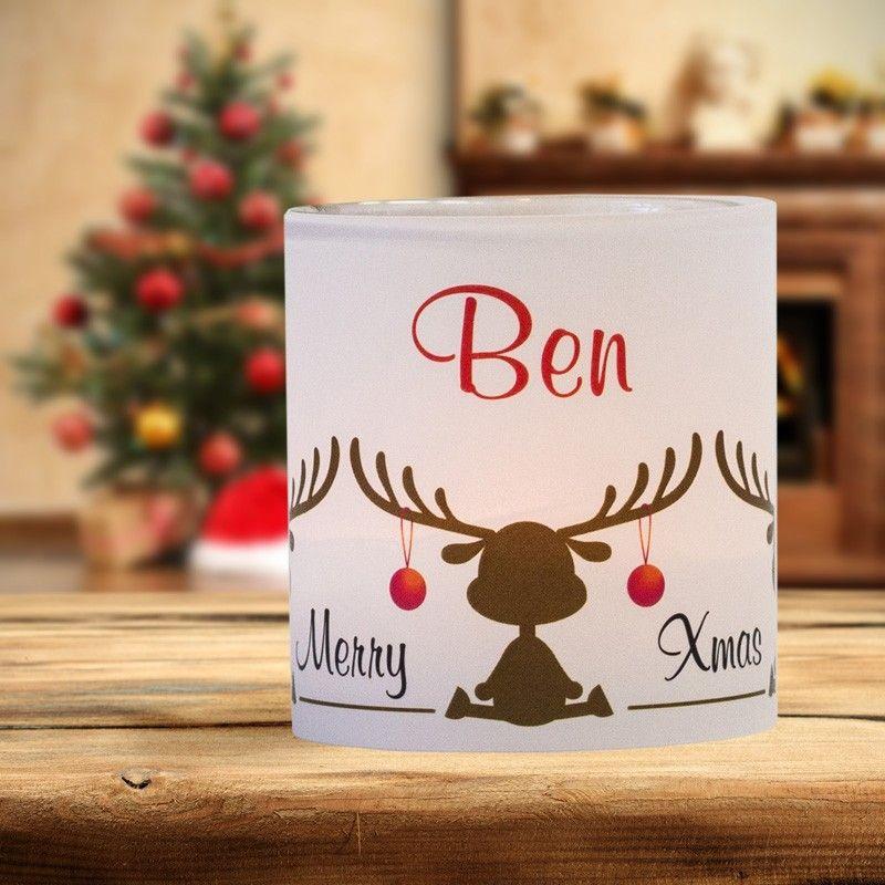 #Weihnachtsdeko #Christmas #Tischkarte #Windlicht Elche:https://www.meine-hochzeitsdeko.de/windlicht-weihnachten-tischkarte-elche