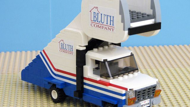 watch out for hop-ons: LEGO Arrested Development stair car
