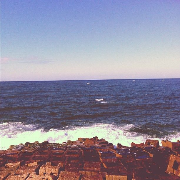 the mediterranean sea from alexandria, egypt.