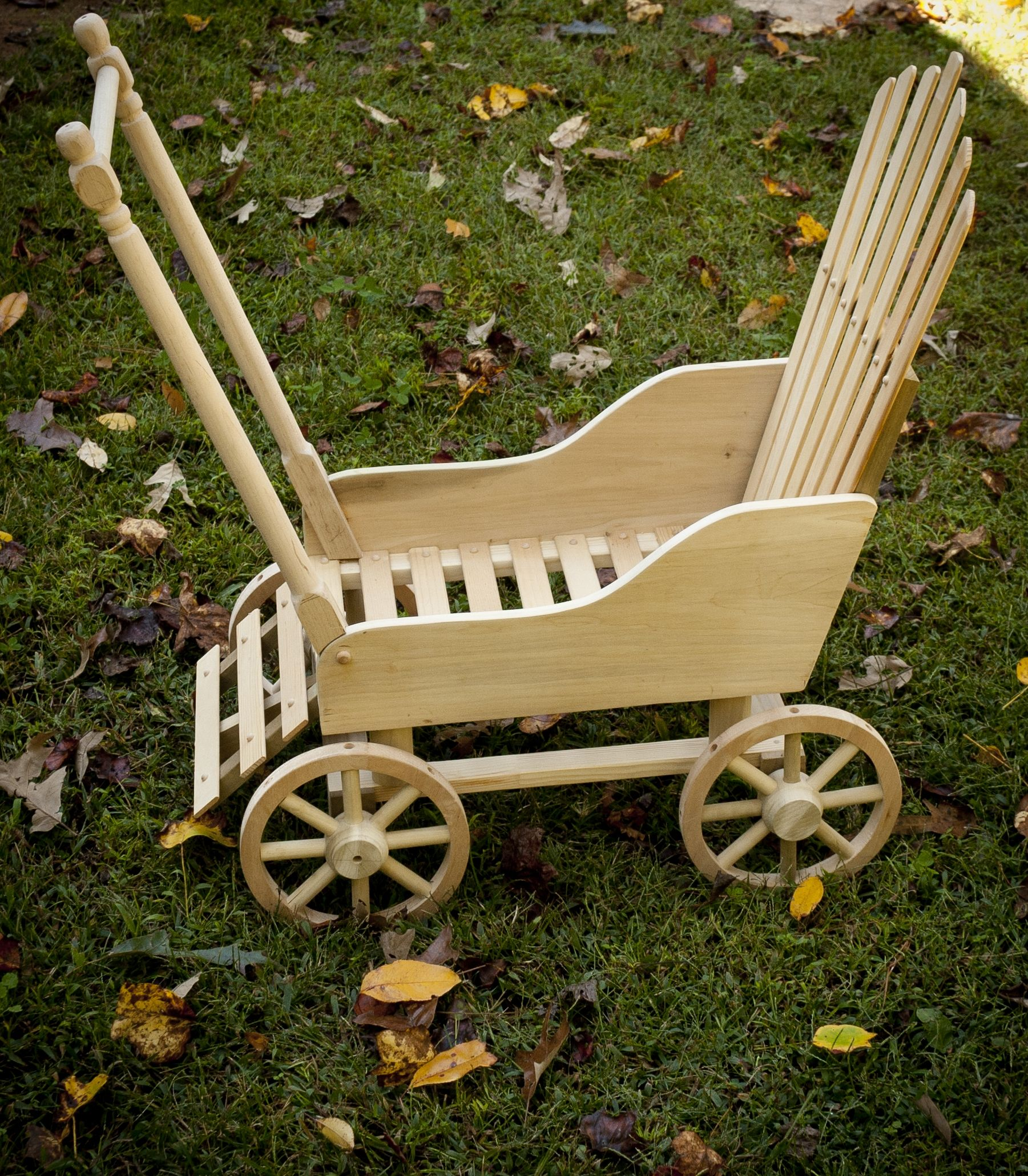 Hand made wooden doll stroller Handmade wooden toys
