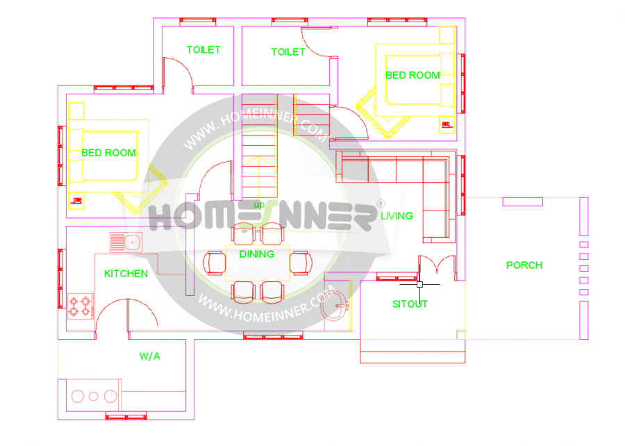 1400 Sq Ft 3 Bhk House Map Plan House Map Online Home Design House Design