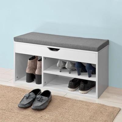 SoBuy® FSR45-HG Banc de Rangement à Chaussures Bottes avec Coussin Rembourré Meuble d'Entrée ...