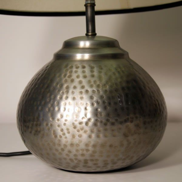 Beautiful Small Pewter Table Lamp 7 Quot Round