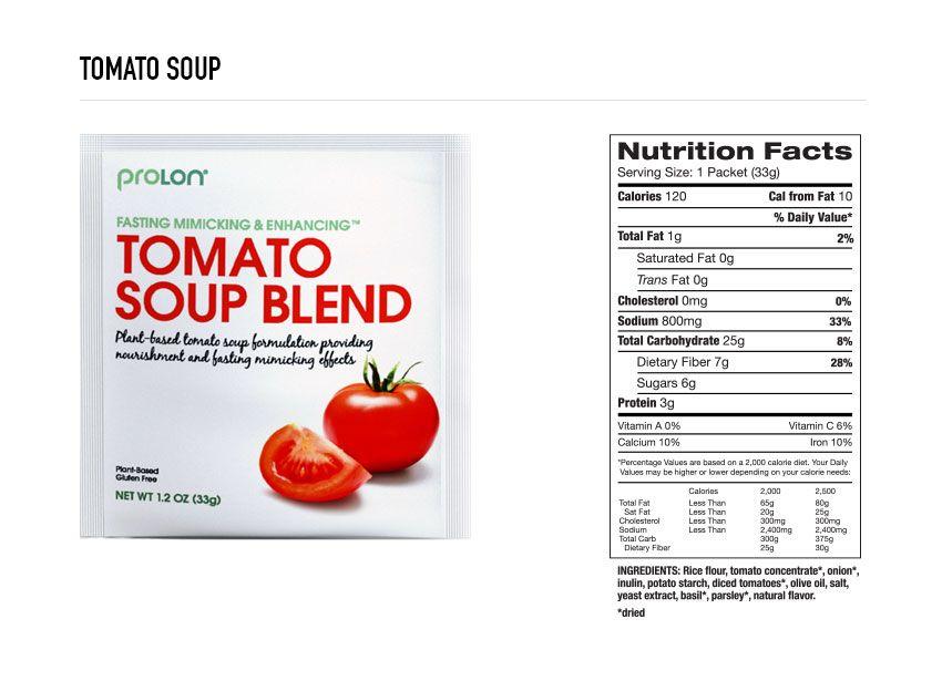 Prolon Fast Mimicking Diet Box Contents Calories Macros Tomato Nutrition Nutrition Calorie