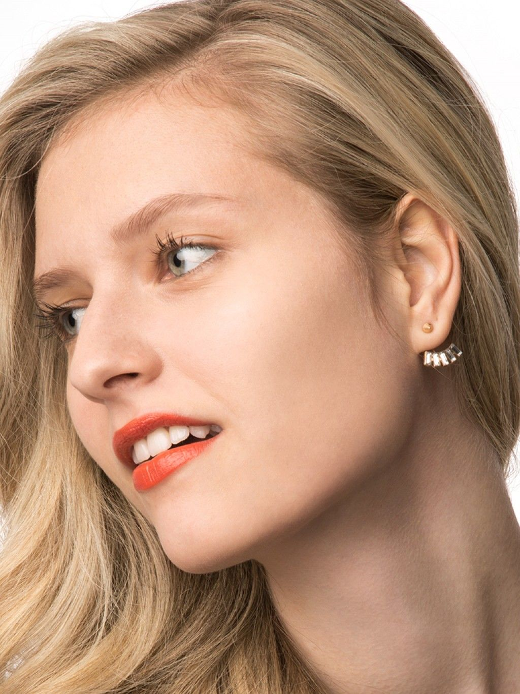 Piercing from nose to ear  Crystal Baguette Ear Jackets Earring  BaubleBar  accessories