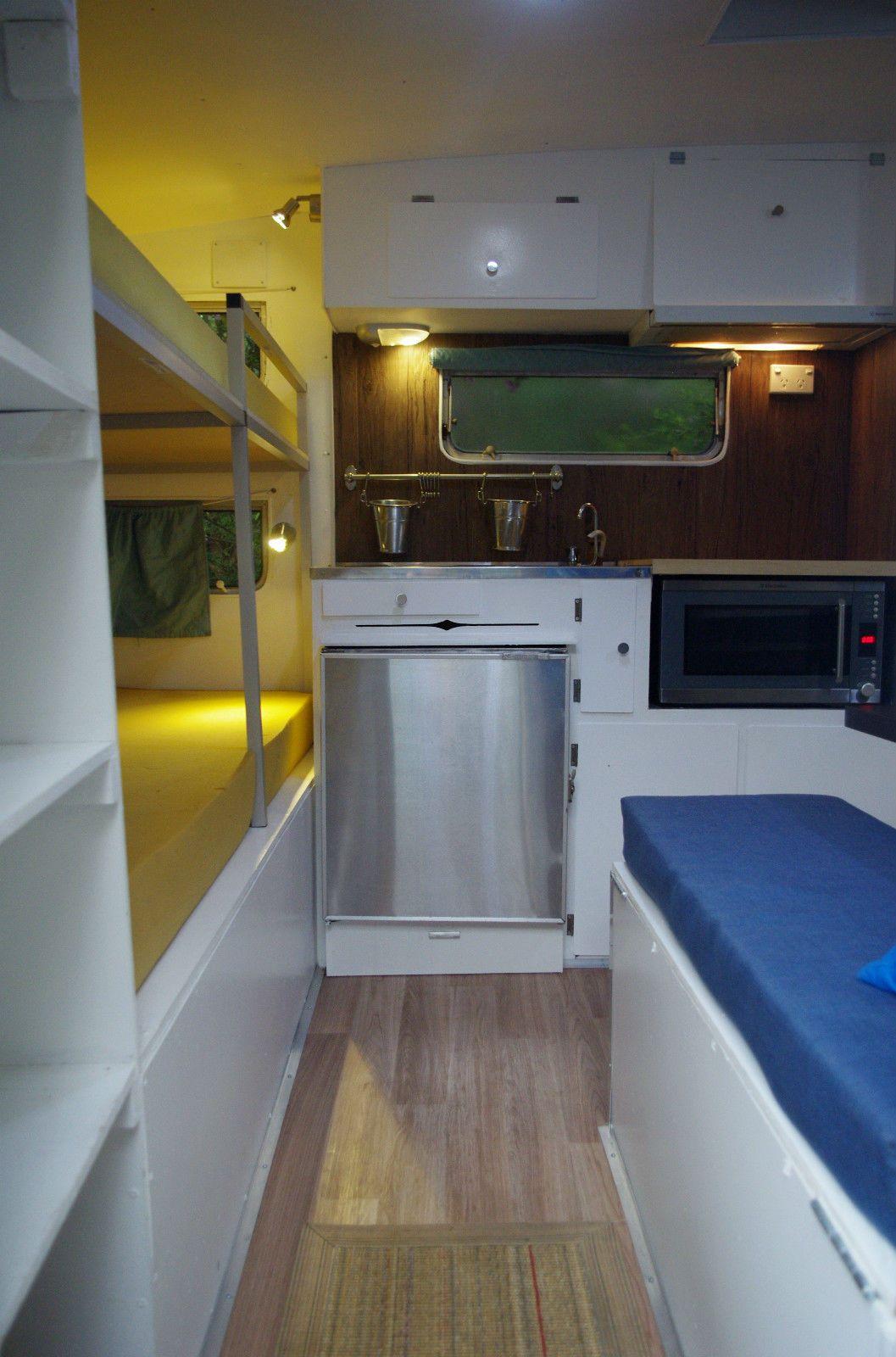 16 foot 1970s viscount caravan renovated interior. Black Bedroom Furniture Sets. Home Design Ideas