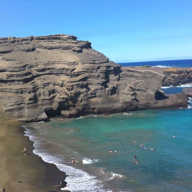 Big Island Beaches: Green Sand Beach - Big Island - Hawaii
