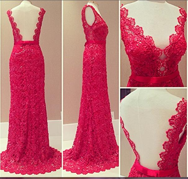 Vestido festa pink rendado