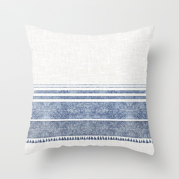 Buy French Linen Chambray Tassel Throw Pillow By Hollizollinger Worldwide Shipping Available At Society6 Com Throw Pillows French Linen Designer Throw Pillows