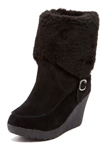 Cute alternative to ugg-style boots, and they look comfy & cozy too. Flatbush Wedge Boot