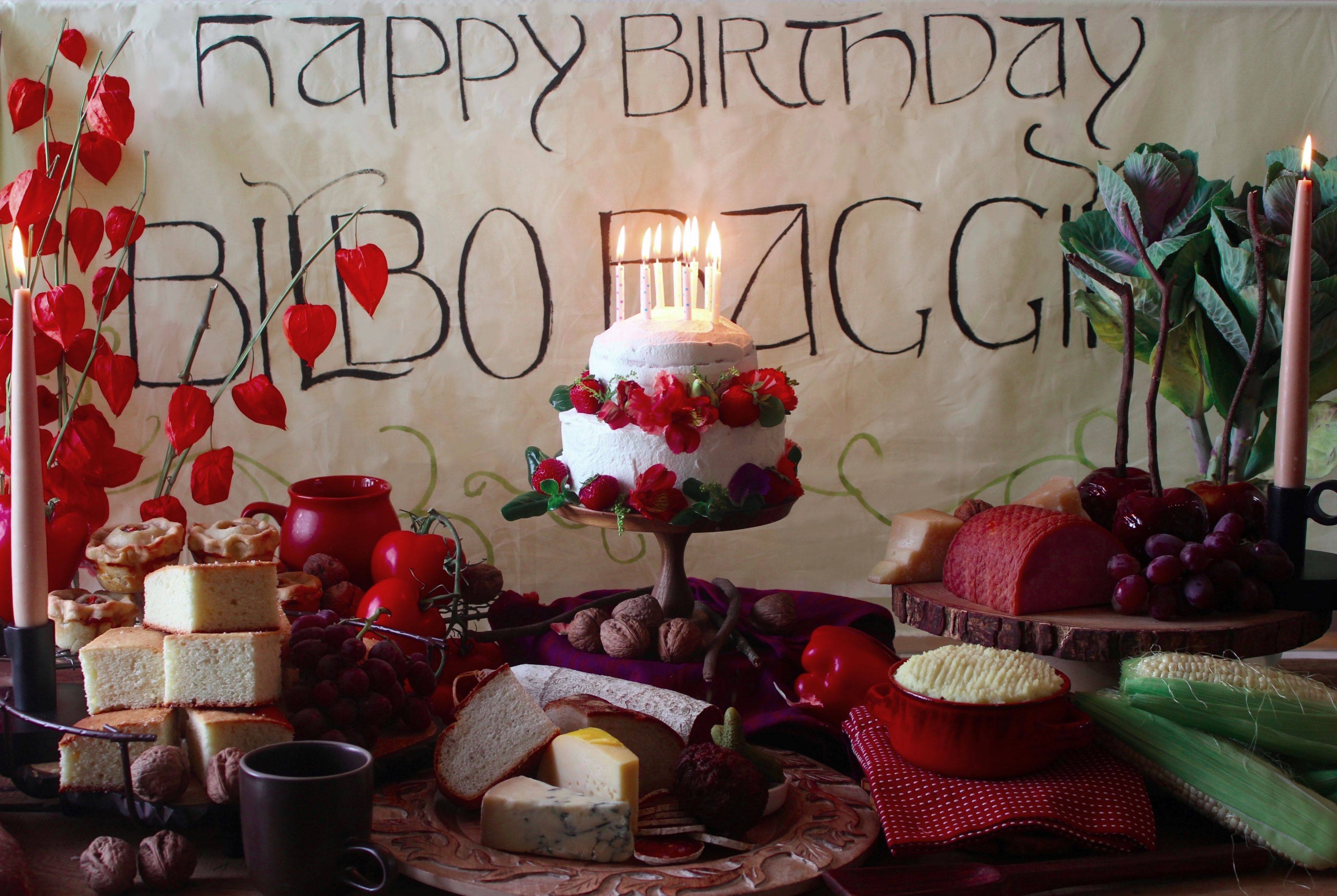 A Feast Inspired By Bilbo Baggins 111th Birthday From The Lord Of