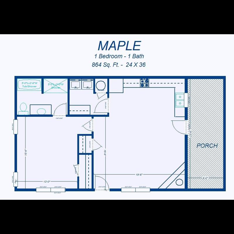 David's Ready Built Homes - 1 Bedroom Floor Plans