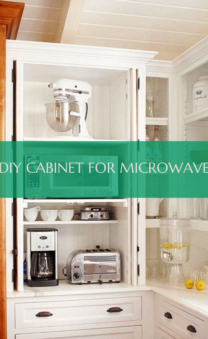 diy cabinet for microwave