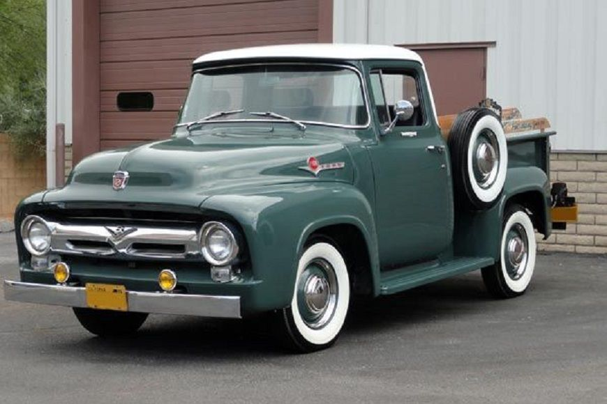 1956 Ford F-100 Gray and White Pick-Up Truck. | Classic & Antique ...