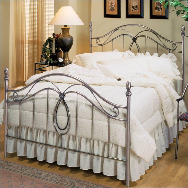 Hillsdale Milano Antique Pewter Metal Poster Bed Full