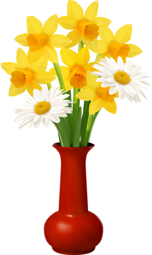 Clip Art Of Flowers In A Vase Awesome Graphic Library