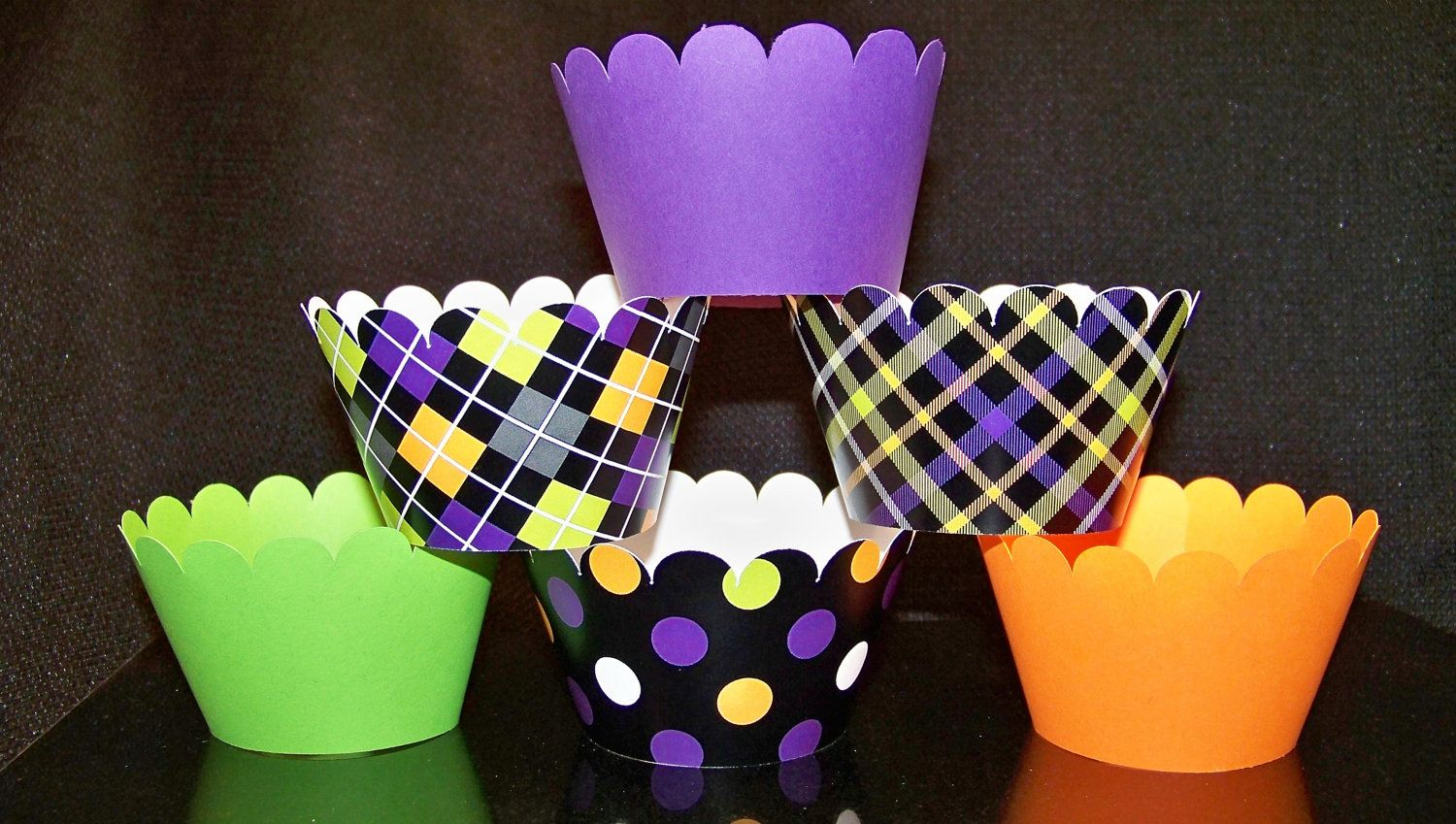 Quantity of 12 CupCake Wrappers Halloween Party Dots by BlingForU2, $7.50