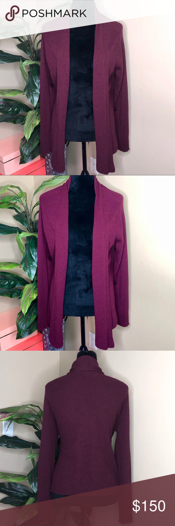NWOT Eileen Fischer Shawl Collar Cardigan Sweater NWOT  Worn one time No flaws No stains Little to no signs on wear Size large Eileen Fisher Sweaters Cardigans #myposhpicks