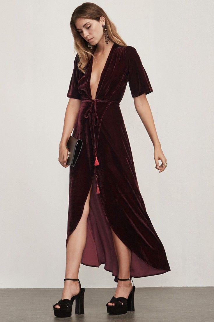 4a8a6384788fe3 Reformation    Cocktail    Bordeaux Dress