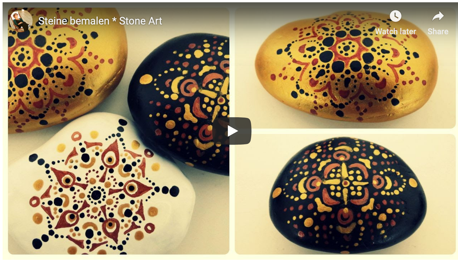 Mandala Stones How to Paint Mandalas on Stones Part 2 is part of Mandala stones, Stone painting, Stone art, Stone, Stone crafts, Painted rocks - Three more videos on painting mandalas on stones  I hope they will give you more inspiration for painting your own mandalas on stones and rocks
