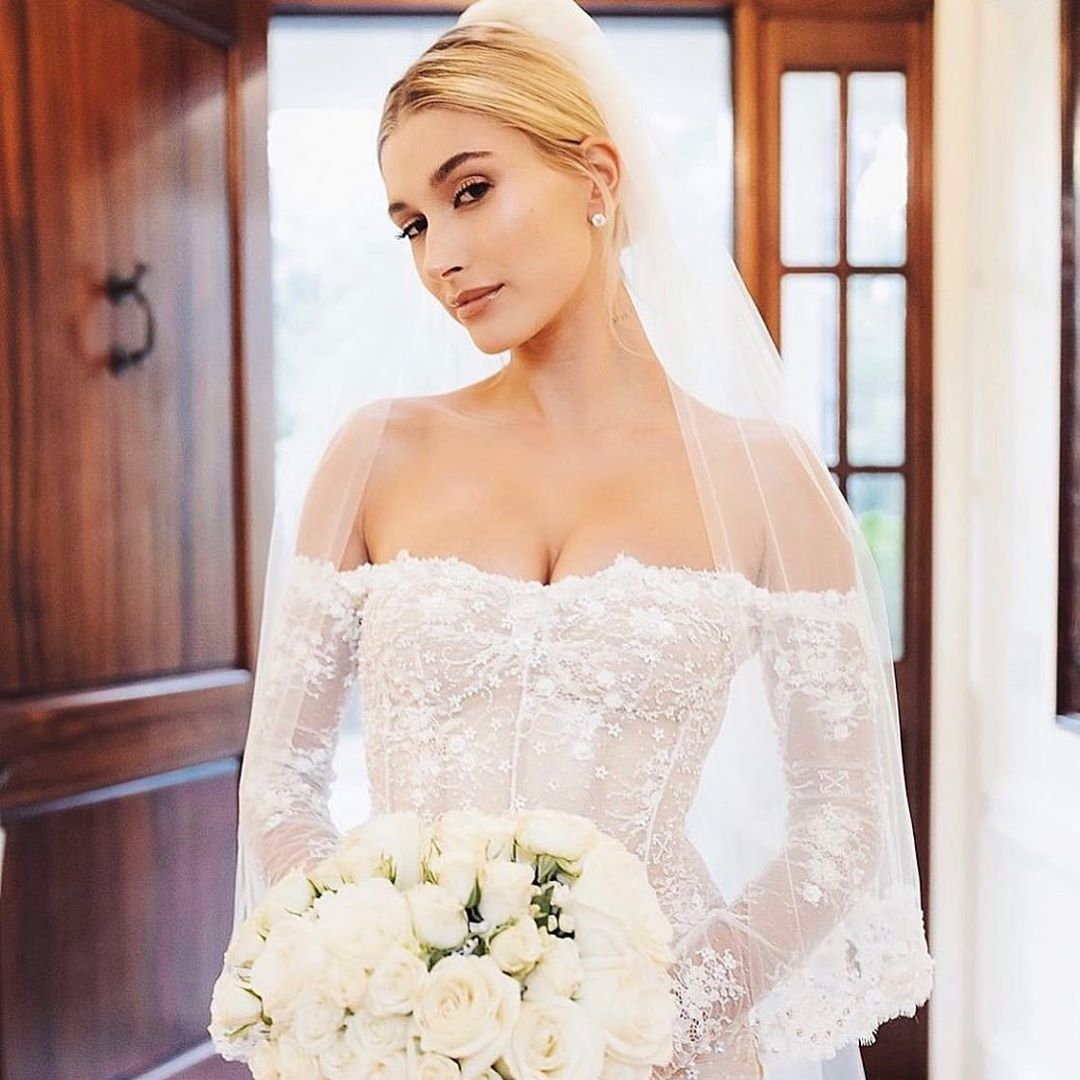 That's How You Do A Wedding Dress Reveal! Hailey Bieber