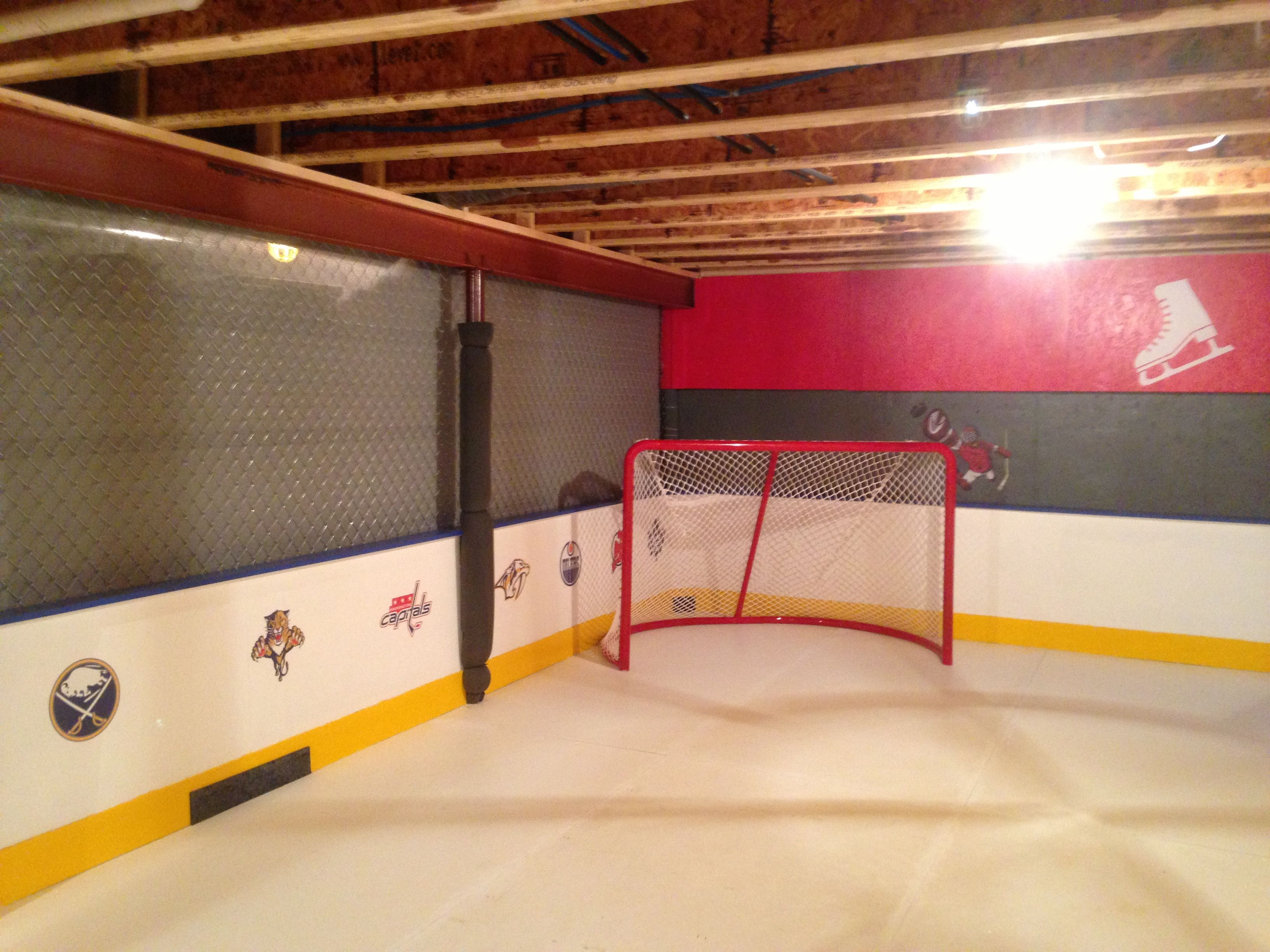 Our Home Ice Rink 8 Of 15 Hockey Room Outdoor Hockey Rink Ice Rink