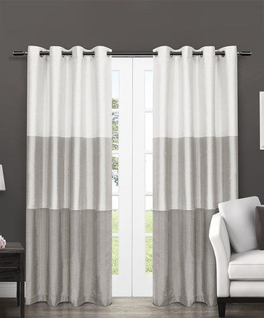 Dove Gray Chateau Stripe Curtain Panel Set Of Two Home Curtains Curtains Striped Curtains