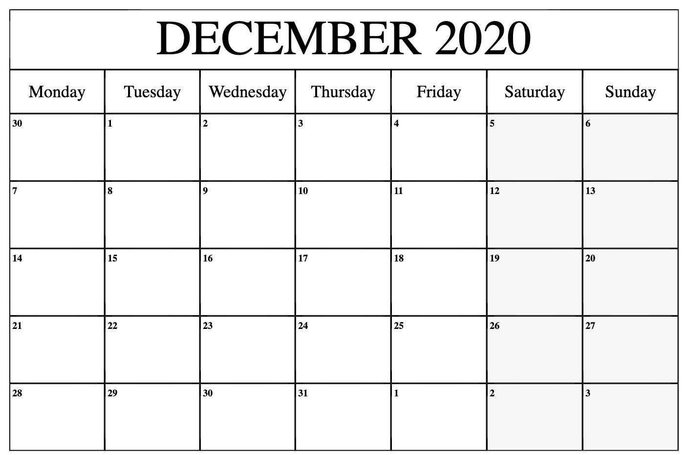 Printable December 2020 to March 2021 Calendar | December calendar