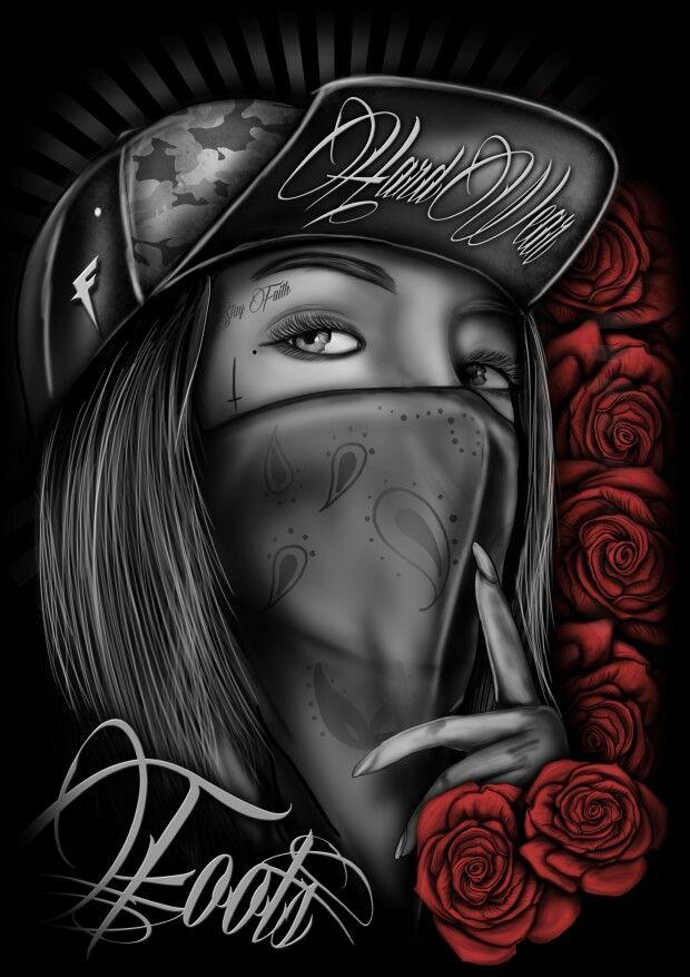 10ea8ab6f4aa8 Gangsta rose Arte Chicana, Cholo Art, Azteca Tattoo, Hip Hop Art, Mexican