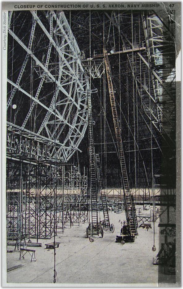 Goodyear-Zeppelin airship ZRS-4 framework 1930