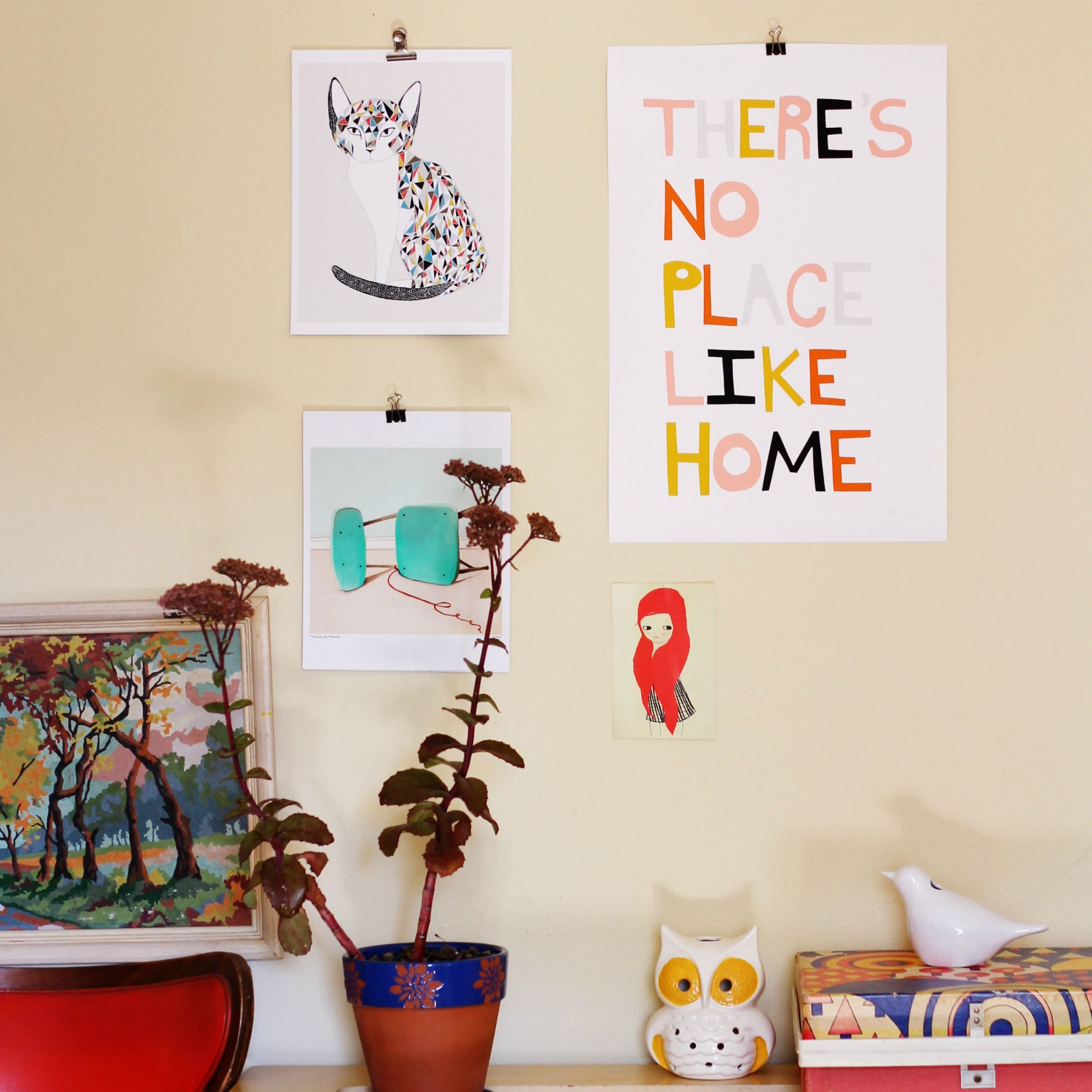 Things To Hang On Walls hang your art prints with binder clips #diy those sticky command