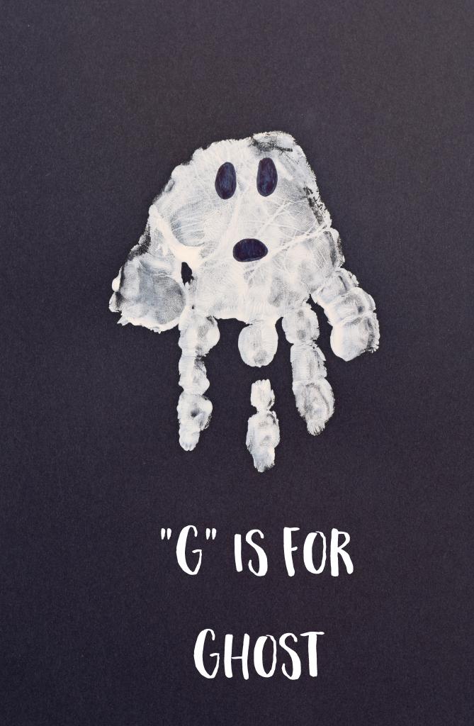 Letter G Ghost Handprint Art For Preschoolers Preschool Art Letter A Crafts Letter G Crafts