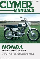 Clymer M321 Service Manual For 1965 78 Honda 125 200cc Twins