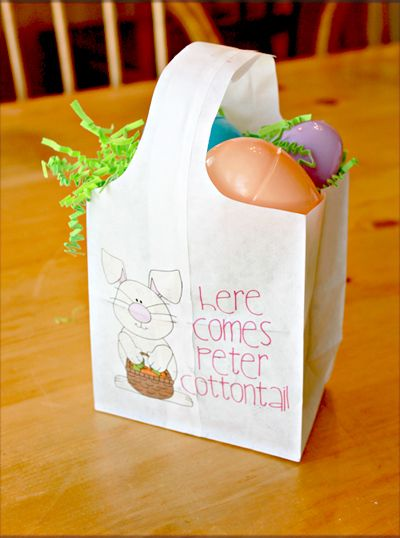 Quick and easy paper easter bags easter baskets easter and easy quick and easy paper bag easter baskets negle Images