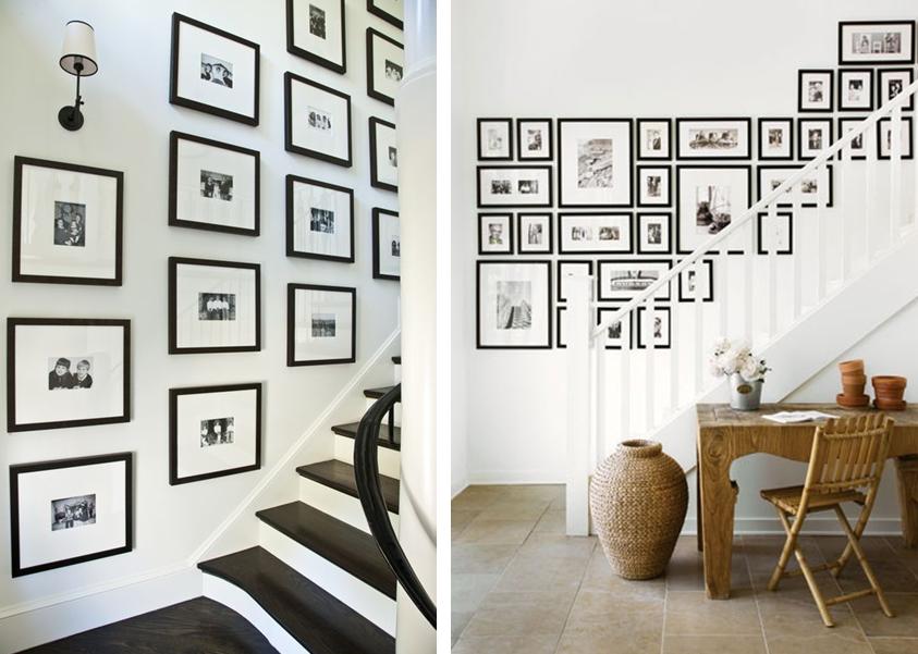 30 id es pour r aliser un mur de cadres blog deco deco design et place. Black Bedroom Furniture Sets. Home Design Ideas
