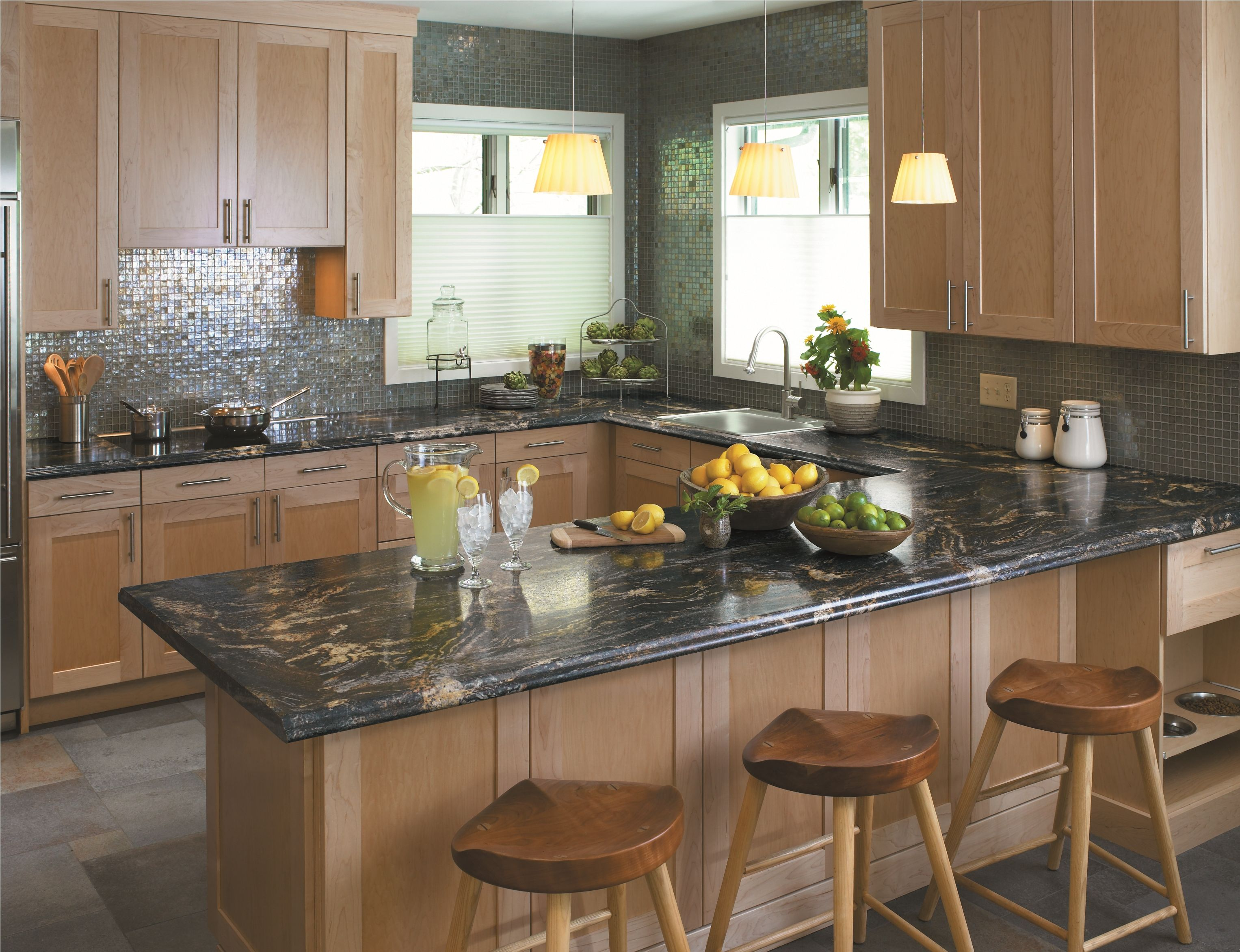 3467 Blue Storm Interiordesign Kitchen Countertop