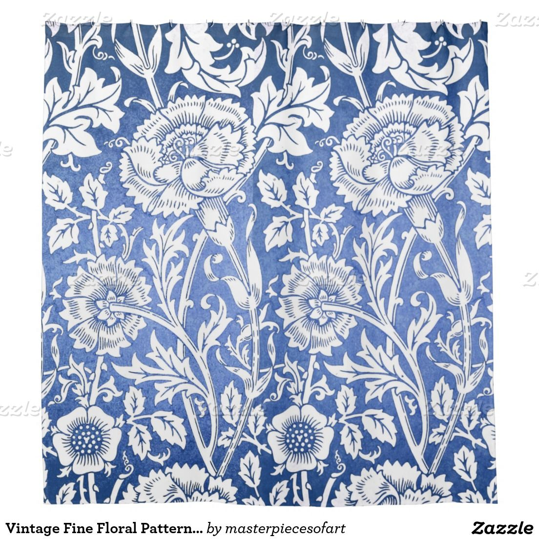 Vintage Fine Floral Pattern William Morris Shower Curtain Zazzle