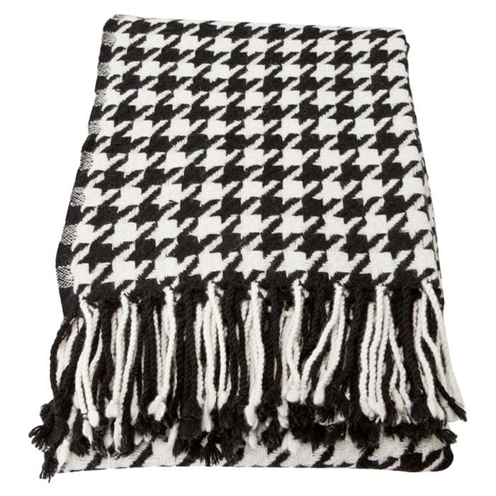 Black White Houndstooth Throw Blanket ROLL TIDE ROLL Mesmerizing Black And White Houndstooth Throw Blanket