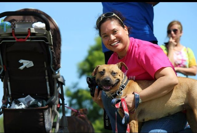 My mommy with Adopt a bully-Izzy